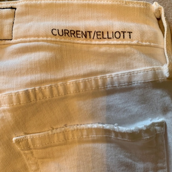 Current/Elliott White Skinny Jean